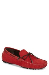 Ugg Bel Air Embossed Driving Moccasin Samba Red Leather