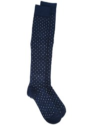 Fefe Patterned Socks Blue