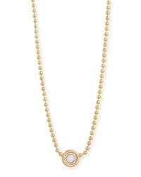 Diamond Bezel Pendant Necklace Yellow Rina Limor