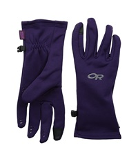 Outdoor Research Backstop Sensor Gloves Elderberry Extreme Cold Weather Gloves Red