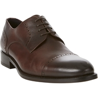 Isaia Perforated Cap Toe Bluchers Brown
