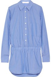 Thakoon Addition Striped Cotton Playsuit Blue