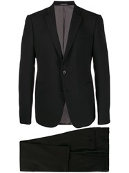 Emporio Armani Single Breasted Suit Black