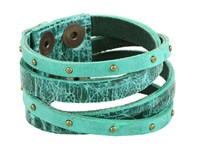 Leather Rock B453 Jade Bracelet Green