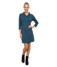 Exofficio Fionna 3 4 Sleeve Dress Marina Women's Dress Blue