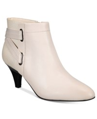 Alfani Women's Vandela Ankle Booties Only At Macy's Women's Shoes Ivory Leather