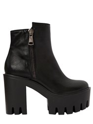 Strategia 100Mm Zip Up Leather Ankle Boots