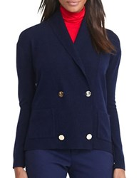 Lauren Ralph Lauren Wool Blend Slim Fit Cardigan Navy