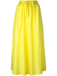 Joseph Midi Full Skirt Yellow Orange
