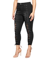 Addition Elle Love And Legend Plus Lace Up Jeggings Black