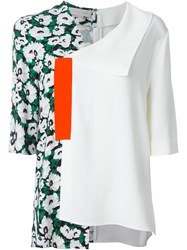 Stella Mccartney Asymmetric Floral Blouse White