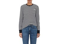 Vis A Vis Women's Striped Cotton Long Sleeve T Shirt Black White