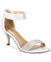Styleandco. Style Co. Phillys Two Piece Evening Sandals Only At Macy's Women's Shoes Silver Sparkle