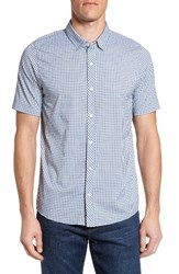 Travis Mathew Men's Barker Trim Fit Plaid Sport Shirt