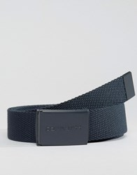 Carhartt Wip Woven Belt With Tonal Buckle Navy