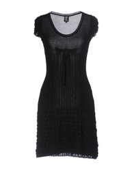 Tricot Chic Short Dresses Black