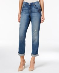 Styleandco. Style Co. Embroidered Amber Wash Boyfriend Jeans Only At Macy's