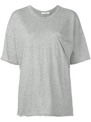 Rag And Bone V Neck Loose Fit T Shirt Grey