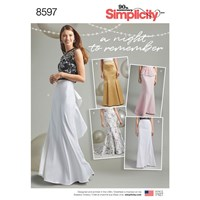 Simplicity Special Occasion Skirts Sewing Pattern 8597