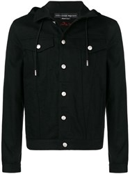 Alexander Mcqueen Hooded Denim Jacket Black