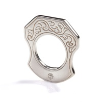 Cf Concept Mastiff Ring Engraved Silver