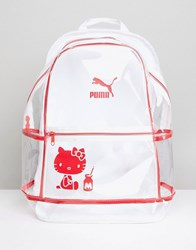 Puma X Hello Kitty Translucent Backpack Clear