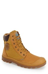 Men's Palladium 'Pampa Sport Cuff' Waterproof Boot Amber Gold