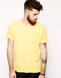 Dansk T Shirt With One Pocket Yellow