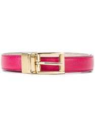Dolce And Gabbana Classic Belt Pink And Purple