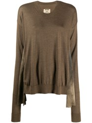 Uma Wang Long Sleeve Flared Jumper 60