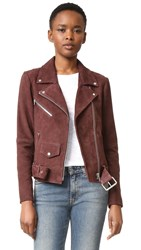 Veda Jayne Suede Classic Jacket Dark Raisin