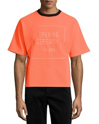 Opening Ceremony Logo Pique Boxy Tee Orange