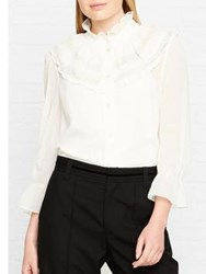 Marc Jacobs Button Up Blouse With Lace White