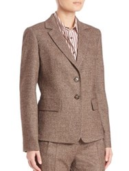 Max Mara Dalmine Herringbone Blazer Dark Brown