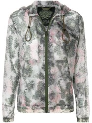 Mr And Mrs Italy Printed Hooded Jacket Green
