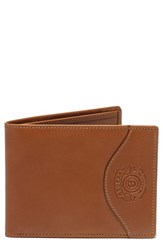 Men's Ghurka Leather Wallet With Id Case Beige Chestnut