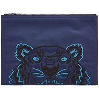 Kenzo Tiger Pouch Blue