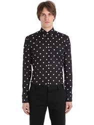 Eton Slim Fit Polka Dot Cotton Muslin Shirt