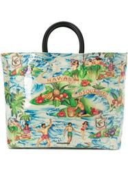 Dsquared2 Hawaiian Printed Tote Bag Multicolour
