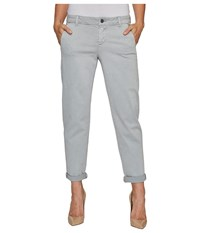 Liverpool Billy Trousers Rolled Cuff In Stretch Peached Twill In Pearl Grey Pearl Grey Women's Jeans Gray