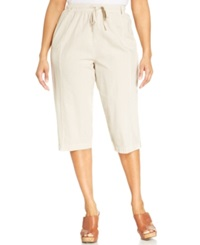 Karen Scott Plus Size Cargo Capri Pants