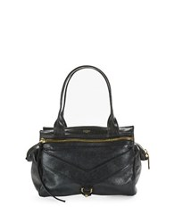 Botkier Trigger Small Leather Satchel Black