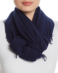 Fraas Solid Oblong Scarf Navy