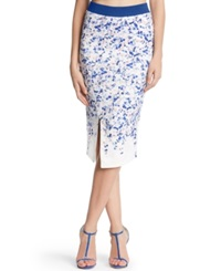 Kiind Of Printed Body Con Midi Pencil Skirt