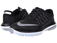 Nike Lunar Control Vapor Black Metallic Silver White Men's Golf Shoes