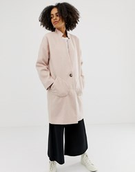 Native Youth Wool Blend Cocoon Coat Dusty Pink
