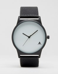 Asos Minimal Watch In Black With White Face Black