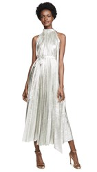 Awake A.W.A.K.E. Oyster Metallic Dress Silver Champagne
