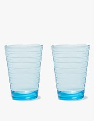 Iittala Anino Aalto Tumbler Set 11Oz Light Blue