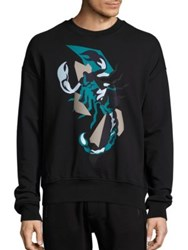Diesel Black Gold Scorpion Print Sweatshirt Black